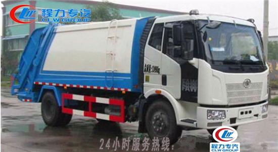 解放J6压缩式垃圾车